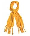 Fleece sjaals met franjes oker geel