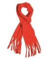 Fleece sjaals met franjes rood