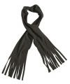Fleece sjaals met franjes zwart