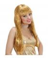 Glitter en glamour pruik goud