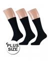 Grote maat zwarte sokken 3 paar maat 47-50