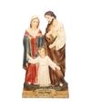 Religieus kerstbeeldje van heilige familie 15 cm