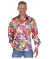 Hippie carnavals blouses heren Fun