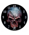 Halloween klok met schedel 34 cm