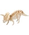 Houten dinosaurus 3d puzzel Triceratops met app