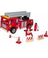 Houten brandweerwagen voor kinderen