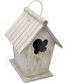 Vintage lichtgrijs vogelhuisje 24 cm