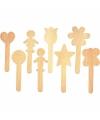 Knutselhoutjes met figuren 25 stuks