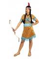 Kleding beige korte indianen jurkje voor dames