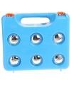 Complete jeu de boules set in blauwe koffer