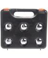 Complete jeu de boules set in zwarte koffer