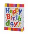 Cadeauverpakking tasje Happy Birthday 25x24 cm