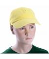 Gele kinder caps