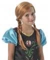 Frozen pruik Anna voor kinderen