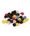 Hobby pompons 25 mm gekleurd