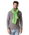 Fleece winter sjaal lime groen