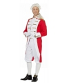 Rood wit musketiers kostuum