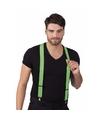 Bretels in de kleur neon groen