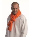 Oranje fleece sjaal