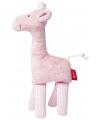 Pluche giraffe roze 19 cm