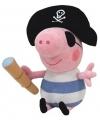 Knuffel Peppa Big George als piraat