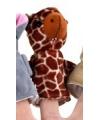 Giraffe vingerpop van pluche