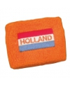 Hollandse vlag op oranje polsbandje