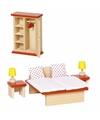 Luxe houten poppenhuismeubeltjes slaapkamer