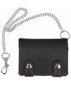 Zwarte portemonnee met ketting 12,4 cm