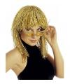 Gouden pruik met krullen