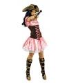 Roze korte musketiers jurk