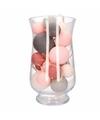 Woondecoratie roze/grijze verlichting in vaas
