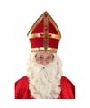 Sinterklaas mijter plat voor volwassenen