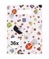 Sinterklaas snoepzakjes 36 stuks snoepjes print
