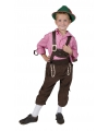 Bruine Oktoberfest lederhose voor kinderen