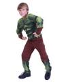 Groen gespierd monster kostuum voor jongens