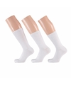 Witte basic sokken voor dames 3 paar