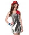 Disco kostuums zilver dames