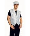 Zilver mouwloze vest met pailletten