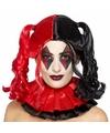 Superschurk damespruik Quinn zwart/rood