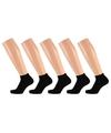 Dames lage sokken zwart maat 36-41