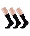 Zwarte basic sokken voor dames 3 paar