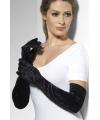 Lange zwarte gala handschoenen