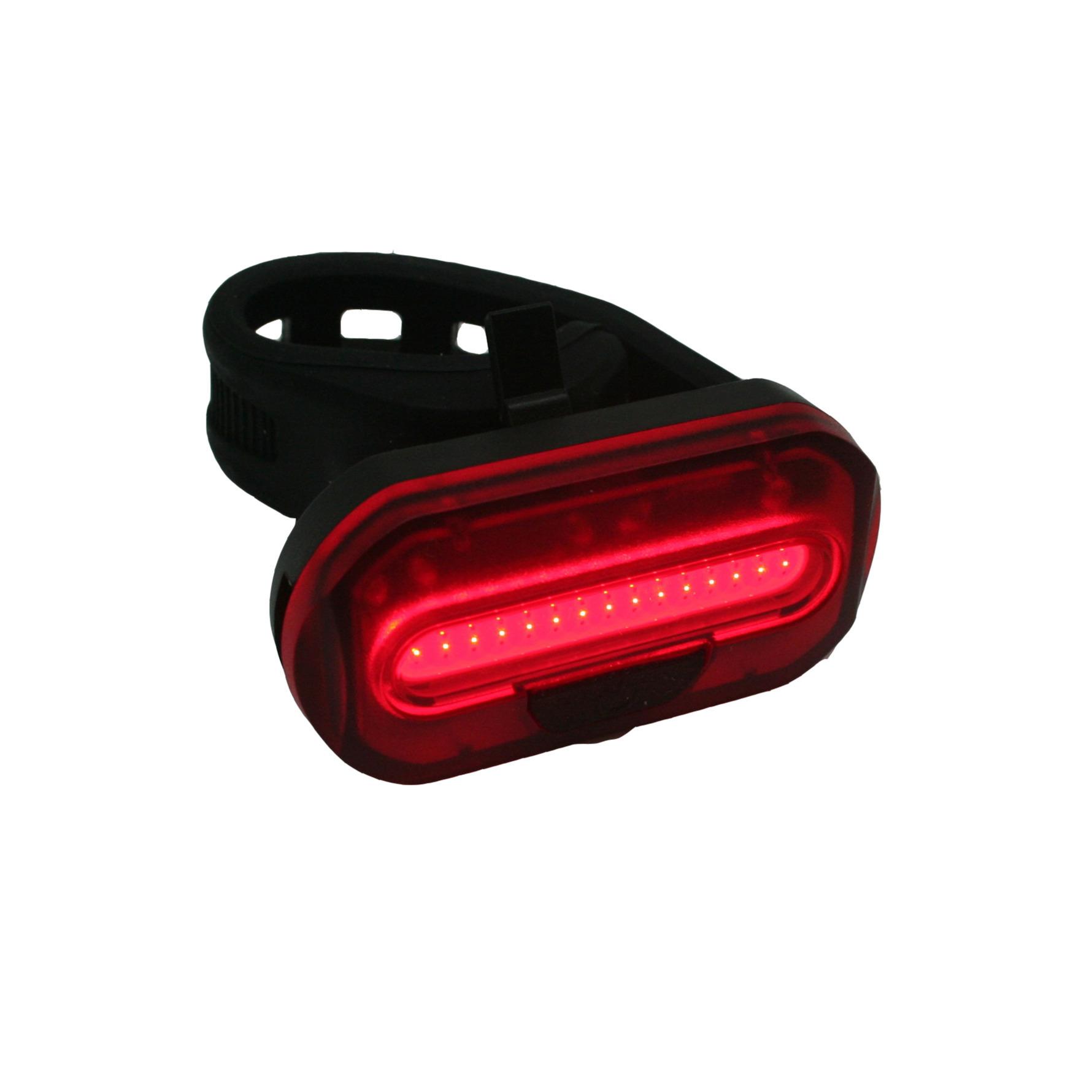 1x Fietsverlichting batterijachterlicht-fietsachterlicht met 1 heldere COB LED zadelpen-frame bevest