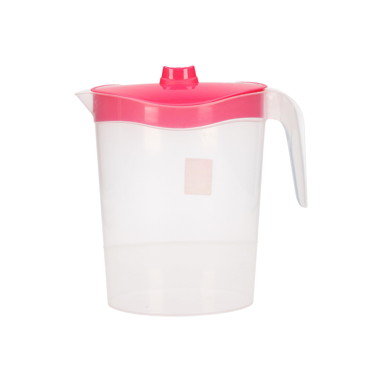 1x Kunststof schenkkannen 2,5 liter met deksel roze
