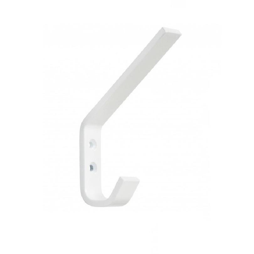 1x Luxe witte garderobe haakjes-jashaken-kapstokhaakjes aluminium hoog model 7,8 x 1,18 cm