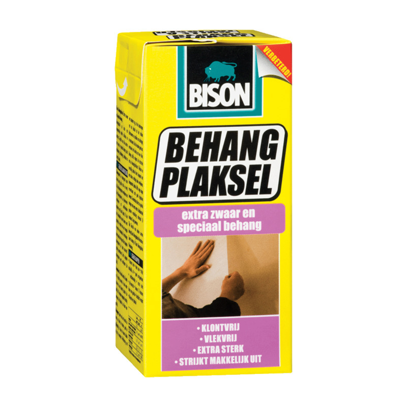 1x pakken Bison behanglijm voor zwaar en speciaal behang 200 gram