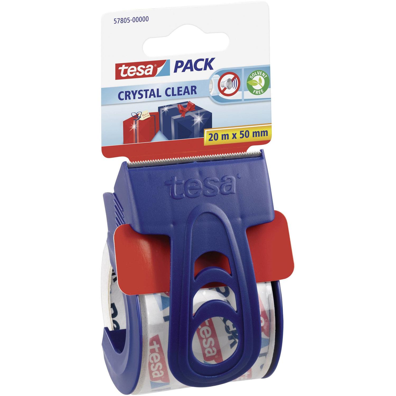 1x Tesa verpakkingstape handdispenser klein met 20 mtr tape