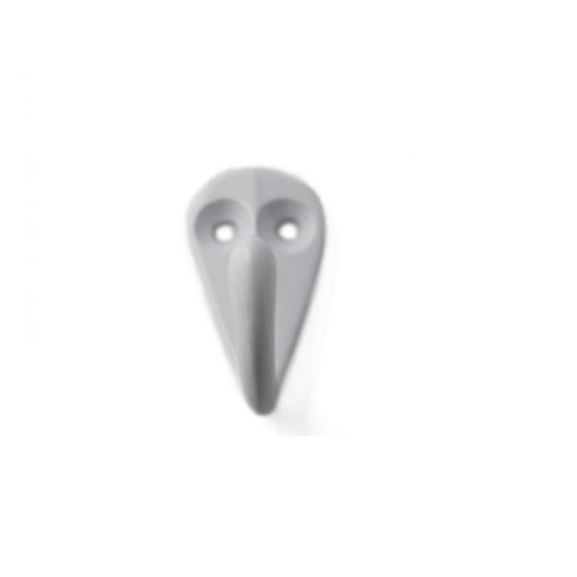 1x Witte garderobe haakjes-jashaken-kapstokhaakjes aluminium enkele haak 3,6 x 1,9 cm