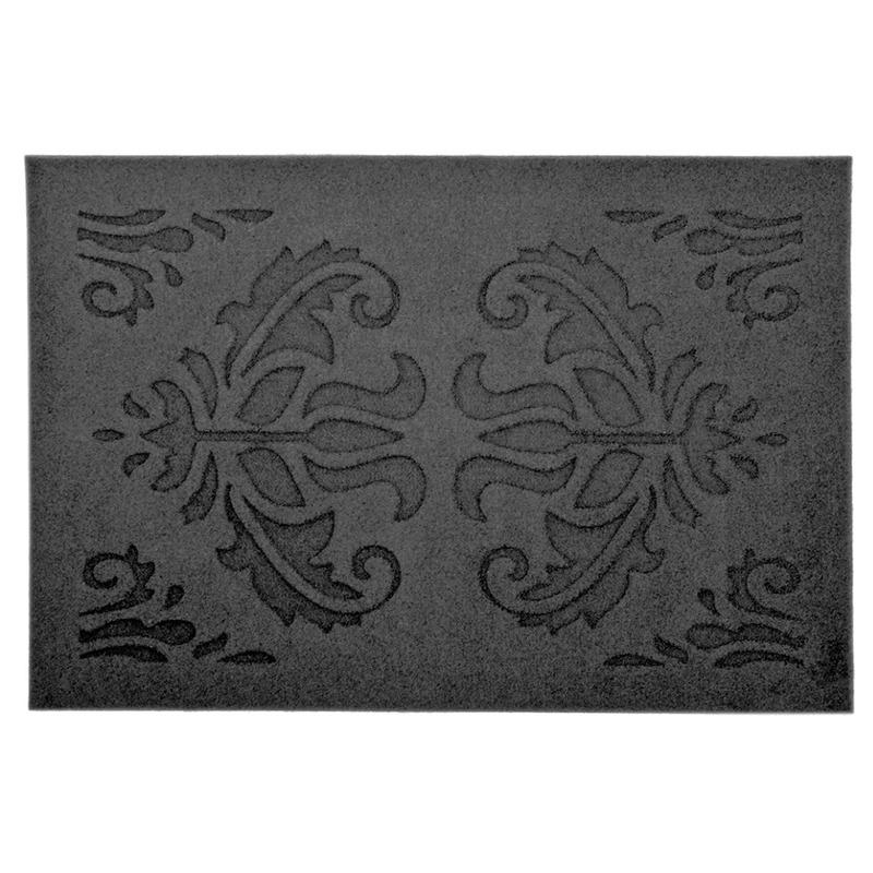 2x Klassieke print deurmatten rubber 60 x 40 cm